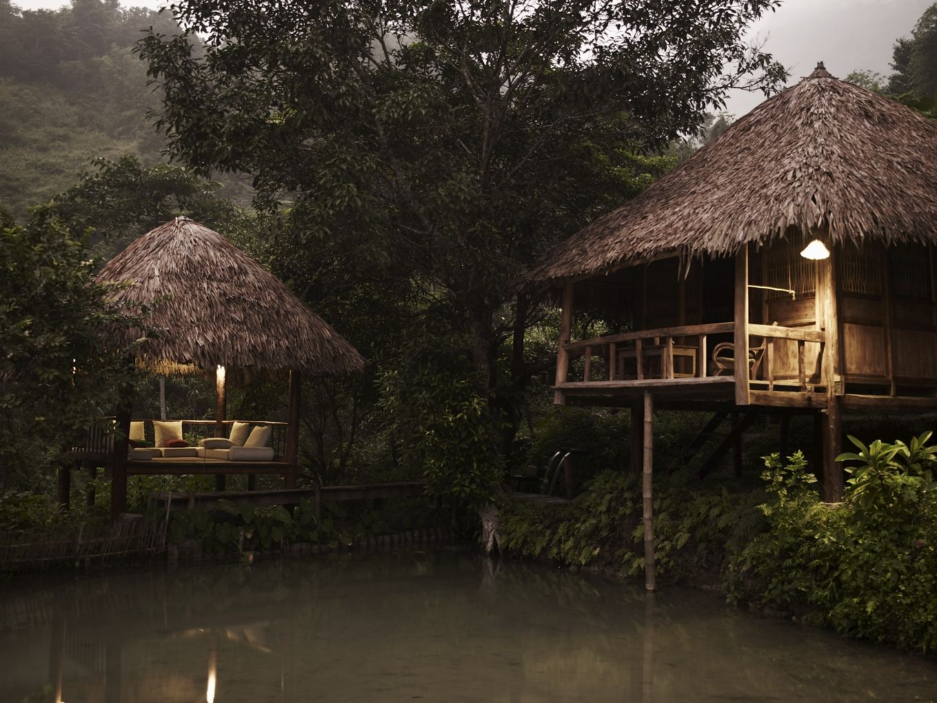 Les Bains De Hieu Ecolodge -  Pu Luong Nature Reserve